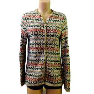 Vintage Northern reflections knit cardigan Medium
